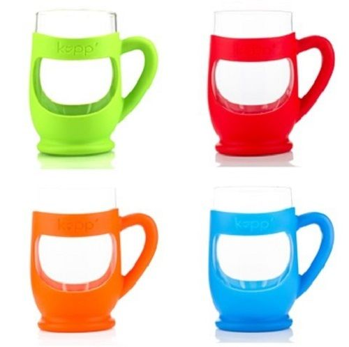 Kupp' Kids Glass BPA Free 6 oz. Drinking Cup with Silicone Handle Verity 4 Pack