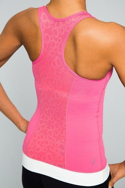 Cozy Orange Libra Yoga Tank Paradise Pink and Optic White Large