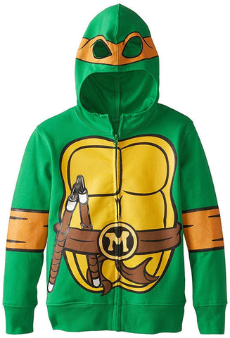 FREEZE Teenage Mutant Ninja Turtles Michaelangelo Hoodie Green Large