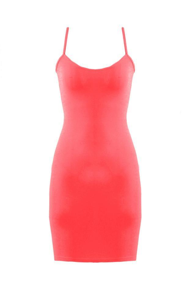 SugarLips Seamless Dress Cami S125TN Coral One Size