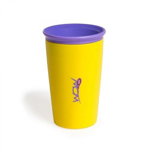 Wow Cup for Kids 360 Spill Free Drinking Cup BPA Yellow 9oz.