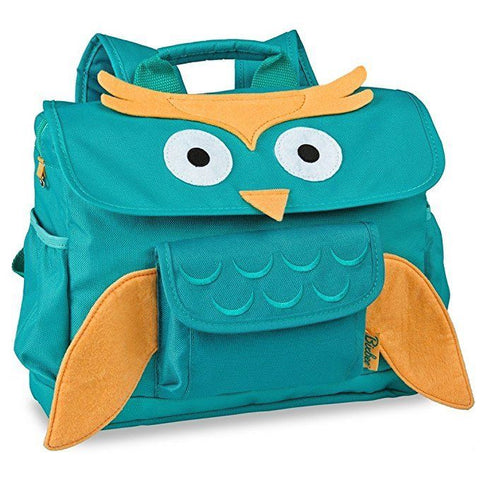 Bixbee Aqua Animal Owl Pack Horizontal Design Boy Girl Backpack Small