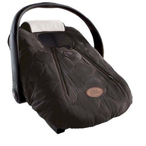 Cozy Cover - Infant Car Seat Cover (Black Quilt)