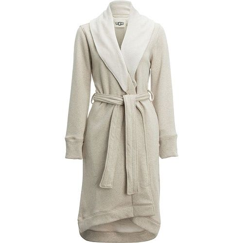 UGG Women's Duffield Robe Oatmeal Heather X-Small