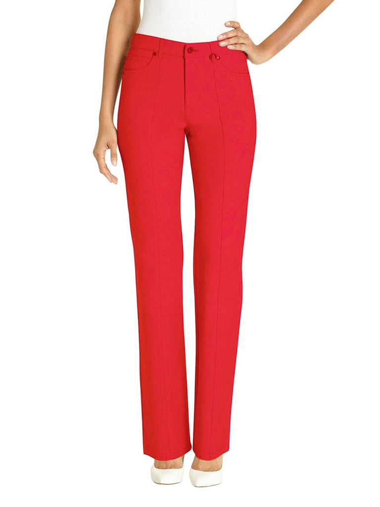 Ur Rebel Women's Straight Leg Microtwill Casual Pant