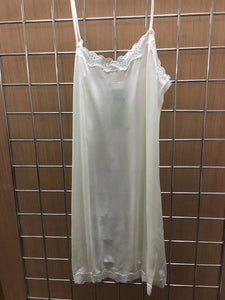Mary Green Stretch Silk Doll Chemise with Lace LL9 White Medium