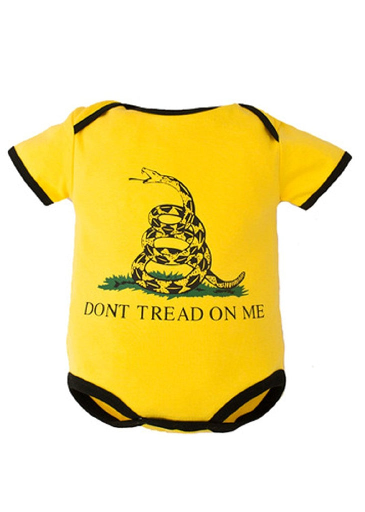 Trooper Clothing Don't Tread On Me 1pc Bodysuit,3-6 Months, Yellow, 3-6 Months 9004