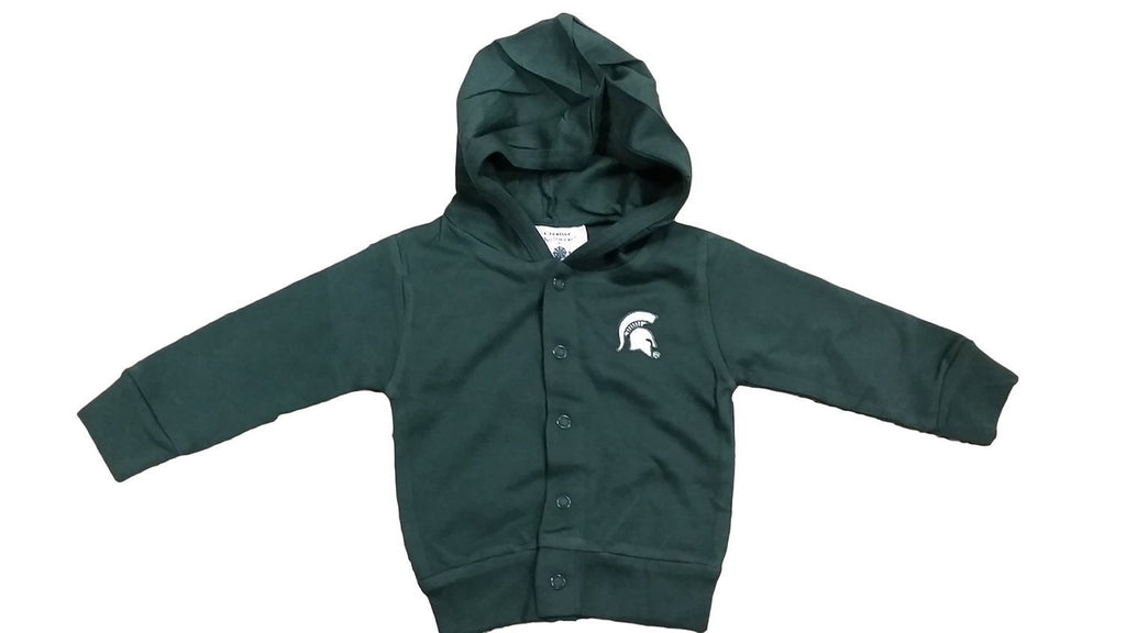 Creative Knitwear NCAA Newborn Hooded Sweatshirt Snap Jacket
