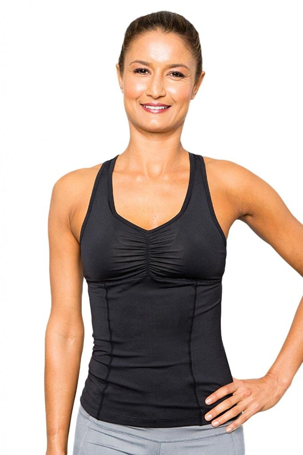Cozy Orange Women's Gemini Yoga Tank Raven Black