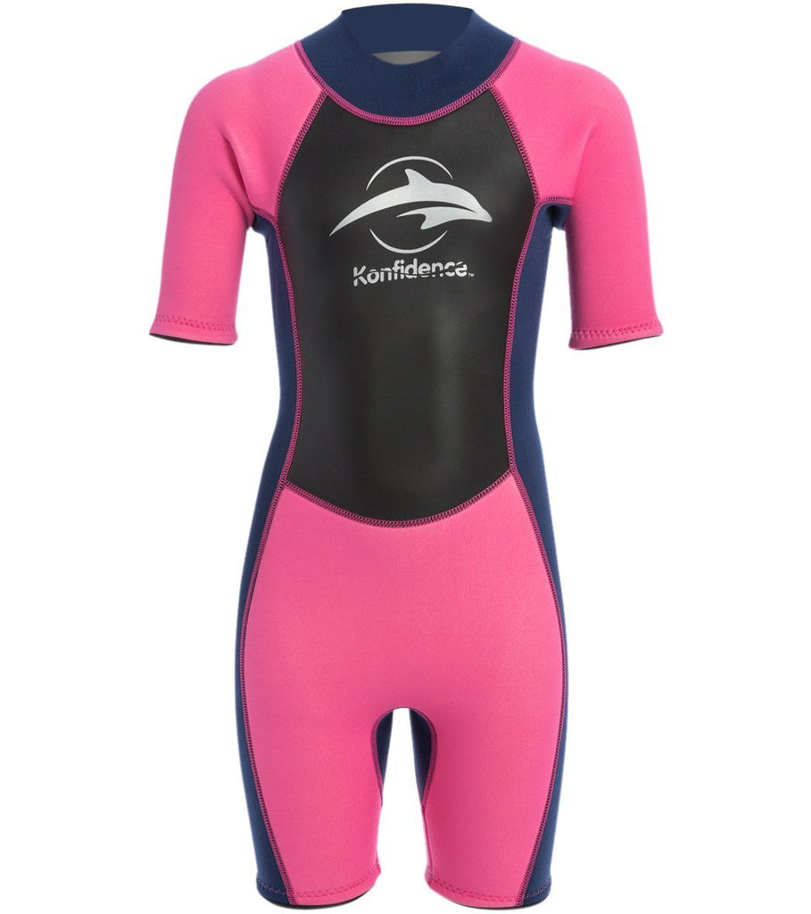 Shorty Wetsuit by Konfidence , Pink, Large 9-10 years