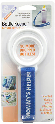 Mommys Helper Bottle Keeper, White/Blue