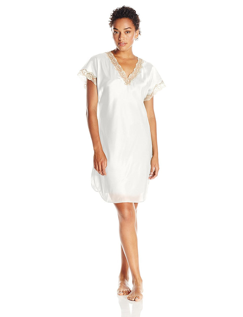 Shadowline Women's Charming Satin Charmeuse Sleepshirt