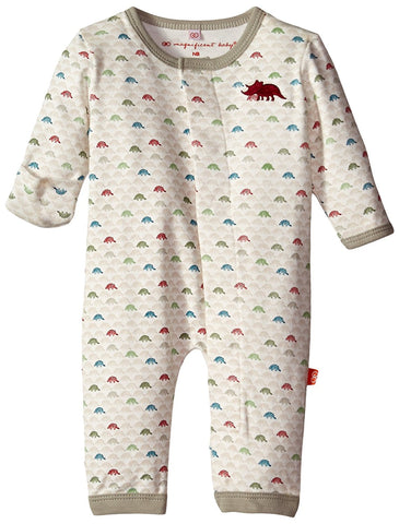 Magnificent Baby Baby-Boys Dino Expedition Long Sleeve Union Suit
