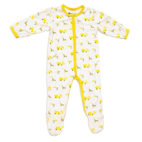 Kyte Baby Layette Printed Bamboo Footie 1508SF Safari