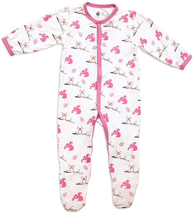 Kyte Baby Layette Printed Bamboo Footie 1508PK3 Park  6-12 Months