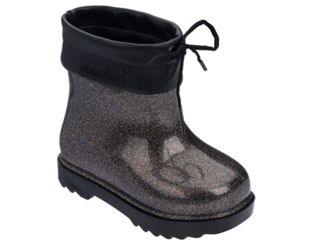 Melissa Mini RainBoot 32424 Blk Glttr