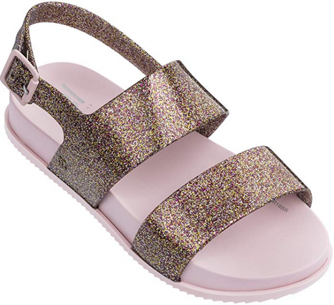 Mini Melissa Girls' Mel Cosmic Sandal Slipper GLOSY Pink