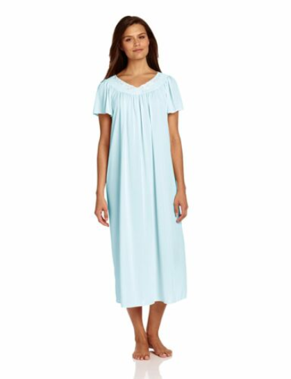 Miss Elaine Women's Tricot Long, Short Flutter Sleeve Nightgown 50809