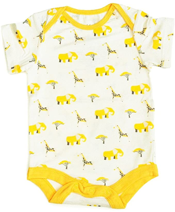 Kyte Baby Layette Printed Bamboo Onesie 1409SF1  Safari  0-3 Months