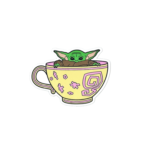 Cup Of Cuteness - Sticker