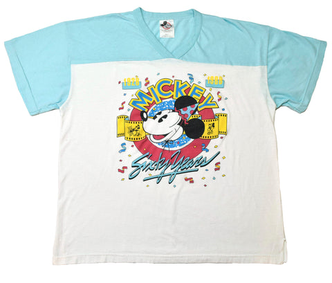 RARE VINTAGE 1988 MICKEY 60 YEARS V-NECK