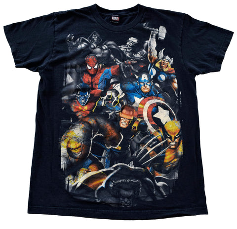 EARLY Y2K MARVEL CHARACTERS T-SHIRT