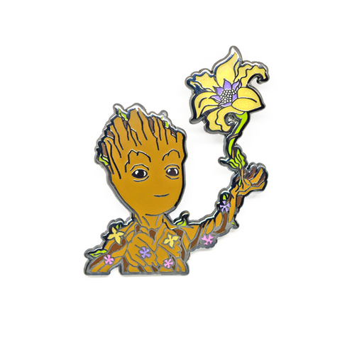 Flower Gleam & Groot Pin