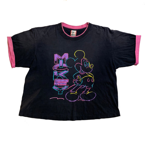 Vintage Neon Mickey Sketch Shirt