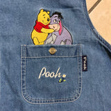 Winnie the Pooh & Eeyore Embroidered Denim Button Up Sleeveless Shirt - SOLD