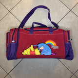 "1990's Winnie the Pooh & Eeyore ""Honey Love"" Dufflebag W/ Removeable Mini Bookbag"