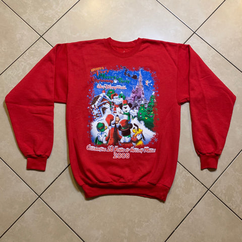 NEW 2008 Mickey's Very Merry Christmas Party Pullover Sweatshirt