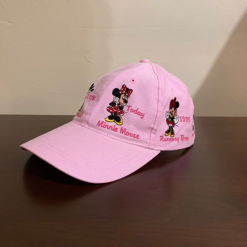 Light Pink Minnie Mouse Through the Years Baseball Cap