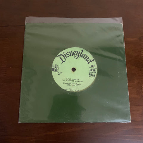 "Disneyland Walt Disney's The Haunted Mansion Sound Effects 7"" Vinyl Record - SOLD"