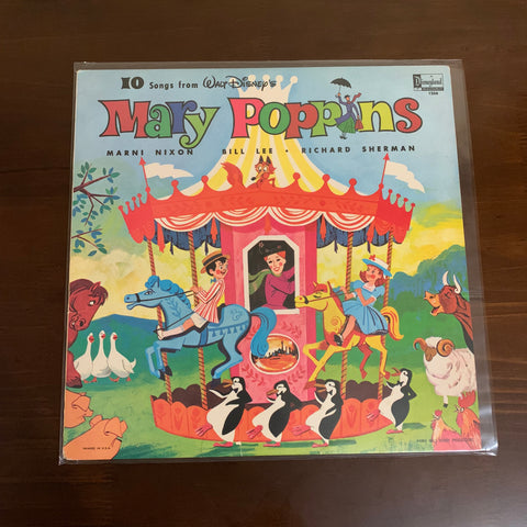 "Vintage 1964 Mary Poppins 12"" Vinyl Record - Sold"