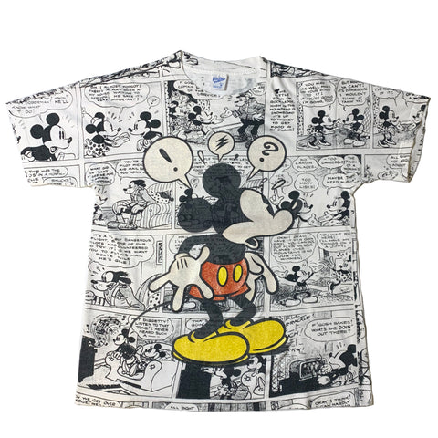 Vintage Mickey Comic Strip Shirt