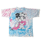 RARE Vintage 90's Mickey Jump All Over Shirt