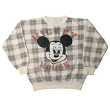 Vintage Plaid Mickey Mouse Sweatshirt - Sold