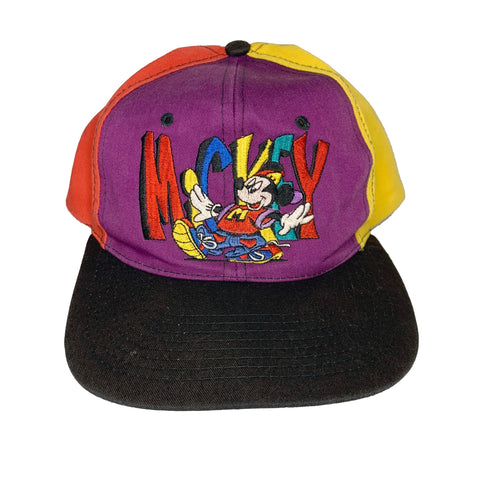 Vintage Mickey Color Block Hat