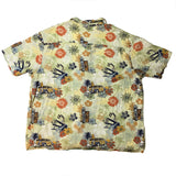 Vintage Mickey Hawaii Floral Tikki Button Up Shirt - Sold