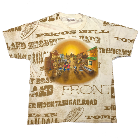 RARE Vintage Frontier Land All Over Shirt