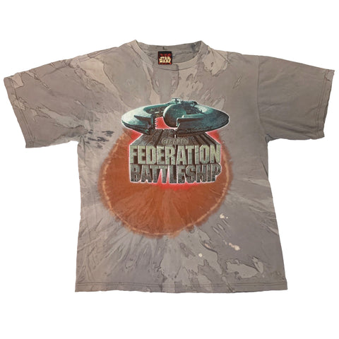 VINTAGE Y2K STAR WARS FEDERATION BATTLESHIP SHIRT