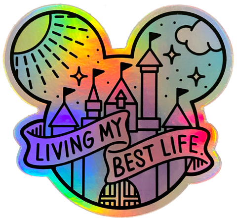 Best Life - Holographic - Sticker