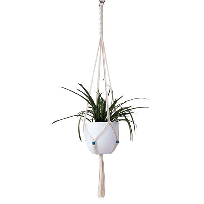 Set of 2 Macrame Plant Hangers Hanging Plant Baskets Indoor Outdoor, 41 inches