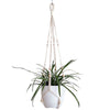 Set of 2 Macrame Plant Hangers Hanging Plant Baskets Indoor Outdoor, 40 inches