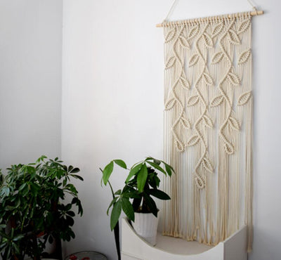 Handmade Macrame Wall Hanging Tapestry Curtain