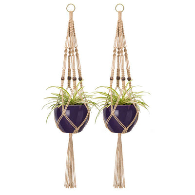 Pack of 2 Macrame Plant Hanger Indoor Outdoor Hanging Planter Basket