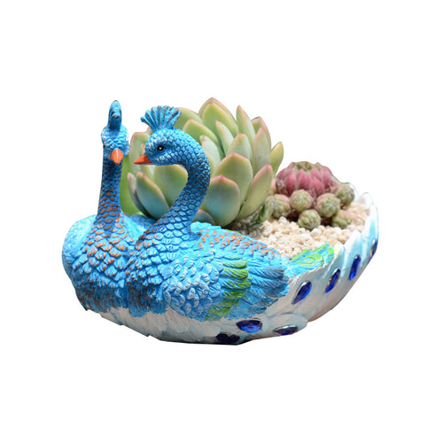 Cute Peacock Handmade Planter Cactus Planter Pot Succulent Planter