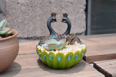 Cute Peacock Handmade Succulent Planter Cactus Planter Pot Succulent Planter