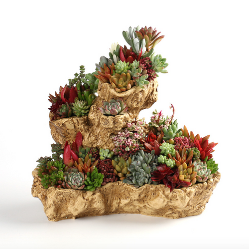 Large Irregular Tree Root Planter Pot Creative Resin Flower Planter Succulent Planter Stump Log Planter Pot