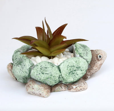 Vintage Turtle Shape Resin Succulent Planter Cactus Container Indoor Animal Succulent Planter